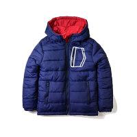 童装男童冬装双面穿冲锋衣棉衣外套儿童宝宝防风保暖棉袄