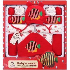 加厚婴儿衣服新生儿礼盒秋冬纯棉刚出生满月宝宝套装母婴用品大全