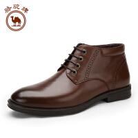 骆驼牌男鞋 秋冬新品 舒适男士商务休闲皮靴商务鞋