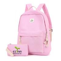 小学生书包双肩包男女童 女孩书包小孩旅游春游休闲儿童背包旅行 XYZ6090 粉色送同款笔袋