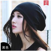 户外女秋冬季套头帽保暖帽围脖两用帽睡帽包头帽韩版堆堆帽月子帽
