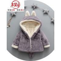 女宝宝男女童冬装棉衣外套加绒加厚秋冬季棉袄0-1-2-3岁半婴幼儿