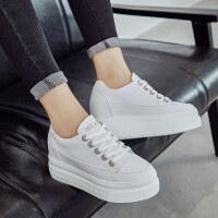 内增高小白鞋女2019春季新款百搭8cm韩版春款厚底白鞋休闲松糕鞋