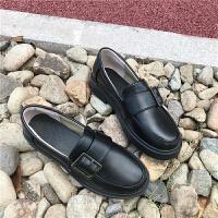 2018新款乐福鞋女秋季平底小皮鞋英伦风女鞋子学院风复古娃娃单鞋