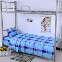 纯棉三件套学生宿舍单人上下铺床单被套被罩枕套全棉床上用品