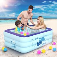 酷迪 儿童游泳池婴儿充气水池家庭戏水池 加厚大号洗澡池