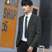 夏款新品韩版男士修身雪花点西服男商务休闲外套夜店青年气质西装