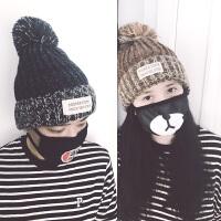 青年新款冬季青年青少年学生情侣毛线针织保暖韩版百搭包头帽子男