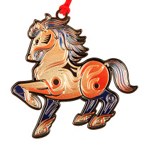 品轩阁 中国风系列金属创意书签-十二生肖奋进马
