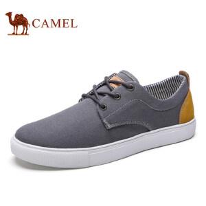 camel骆驼男鞋  春季新品 舒适潮流简约帆布鞋 轻便休闲男鞋