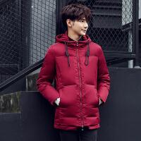 男士羽绒服 男 中长款加厚韩版修身新款修身款青年连帽冬装外套潮