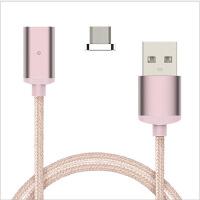 苹果iPhone6磁性磁力充电线安卓Type C二合一拖三磁吸数据线