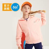 【新春到手价:144.5】361度童装 女童2020春季新品女大童儿童连帽针织洋气开衫运动外套