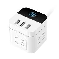 西屋智能插座多功能插座定时插座触控USB充电6插口10A安 WH-CS-W1