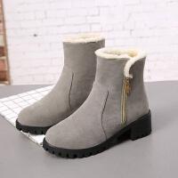 保暖雪地靴女秋冬新款保暖加厚短靴棉鞋防滑短筒棉鞋妈妈鞋女
