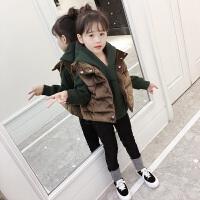女童秋冬套装卫衣三件套中大童时髦潮衣儿童洋气衣服