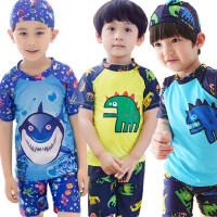 儿童速干鲨鱼泳裤套装 中大童幼儿宝宝泳衣小童分体游泳衣 幼儿男童泳装
