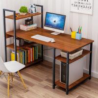 【一件3折】电脑桌台式办公桌家用简易书桌书架组合简约现代学生写字转角桌子