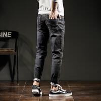 【1折价39.9元】唐狮秋装新款牛仔裤男士青少年韩版弹力修身简约小脚牛仔长裤