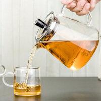 过滤红茶玻璃茶具耐高温功夫泡茶壶玻璃茶壶套装家用耐热花茶壶