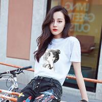 短袖女t恤韩版夏装上衣服体恤学生体��衫修身女装潮