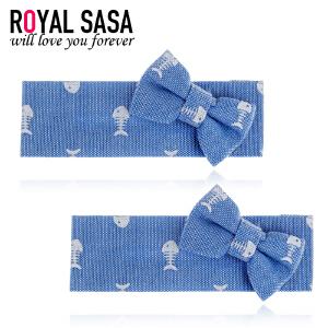 皇家莎莎RoyalSaSa韩版手工发饰对夹小鱼布艺发夹发卡刘海夹边夹侧夹头饰