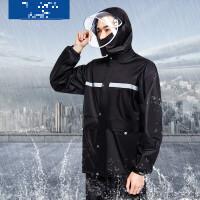 摩托车雨衣男分体式单人防雨服摩托车双层加厚钓鱼雨衣雨裤分体男女式防暴雨套装