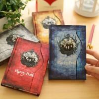 金谷 哈利波特磁扣记事本 复古计划本 旅行日程本 彩页硬抄日记本笔记本