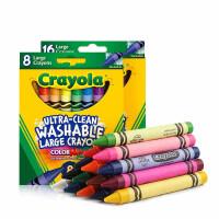 绘儿乐Crayola 儿童蜡笔安全无毒可水洗宝宝涂鸦绘画蜡笔16色加粗