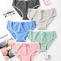 【NJR&秋冬新品】南极人女士内裤女日式螺纹三角内裤T8152-T