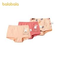 巴拉巴拉女童内裤棉平角裤儿童短裤小童宝宝女柔软三条装