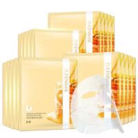 透真蜂蜜玻尿酸面膜20片补水保湿滋养修护蚕丝面膜贴女护肤化妆品