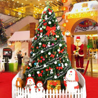 捷�N 圣诞树套餐光纤彩灯发光加密枝头 圣诞节装饰品礼物圣诞帽 2.1米豪华套餐(160个配件+600个枝头)
