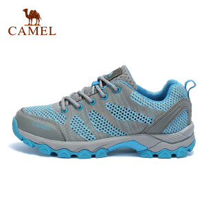 camel骆驼户外徒步鞋 女款防滑减震透气舒适低帮系带徒步