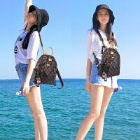 双肩包女韩版同款真皮包个性百搭时尚旅行背包潮