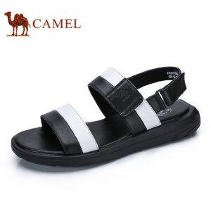 camel骆驼男鞋  夏季新品 舒适时尚休闲凉鞋魔术贴露趾沙滩拖鞋