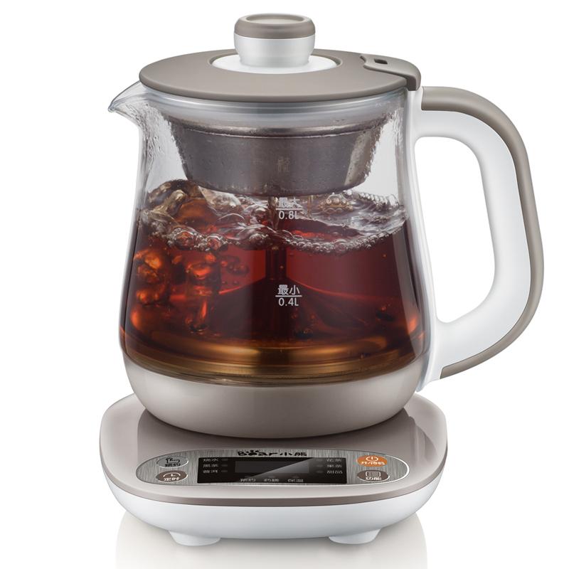 小熊(Bear)煮茶器 全自动养生壶加厚玻璃多功能黑茶花茶 YSH-A08N5 支持* 喷淋泡茶 6大精煮功能 预约定时 0.8升容量