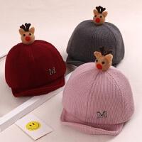 春秋冬季可爱宝宝帽子 5-18个月韩版男女小童鸭舌帽 软檐婴儿棒球帽
