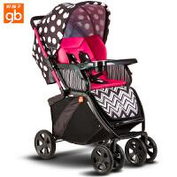 【当当自营】好孩子婴儿推车 婴儿车轻便 高景观婴儿推车 儿童宝宝推车 婴儿车推车C450-h 波点红