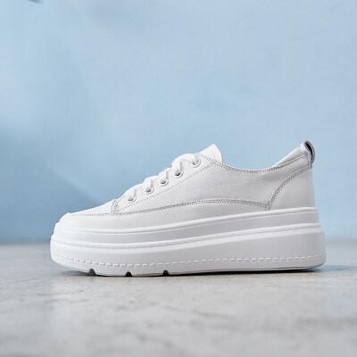 内增高小白鞋女鞋2019春款韩版百搭新款厚底松糕白鞋板鞋春季