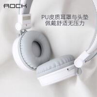 【支持礼品卡】ROCK/洛克 Y10立体声头戴耳机手机线控耳塞安卓苹果电脑通用带麦