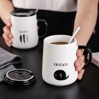 咖啡马克杯陶瓷喝水杯子创意个性潮流办公室简约女带盖勺ins家用