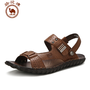 骆驼牌男鞋 夏季新款男士 凉拖鞋露趾透气凉鞋户外沙滩鞋