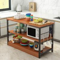 【限时直降3折】厨房置物架调料架落地多层微波炉架子碗架碗柜家用经济型省空间