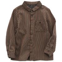 童装长袖纯棉衬衫秋季新款姐弟装儿童条纹衬衣