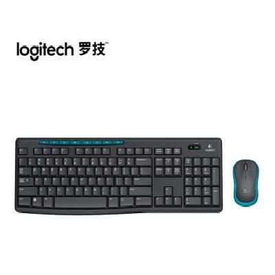 罗技/Logitech MK275无线键鼠套装(配M185无线鼠标+K270无线键盘)键盘办公套件 罗技MK260升级版