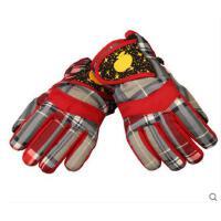 6-10岁男女孩加绒加厚骑车手套 男女学生防寒手套 儿童滑雪手套 男童女童保暖手套