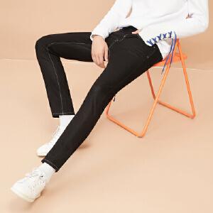 【领券即享100元任选4件】美特斯邦威男牛仔裤常年款男弹力基本款牛仔长裤246409