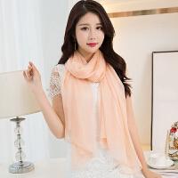 杭州丝巾女围巾春秋冬季秋季长款披肩