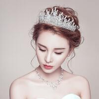头饰结婚大皇冠项链三件套装婚纱礼服配饰手工饰品